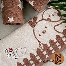 라떼브라운 선염 꼬꼬 (양면)장타올 (160g)